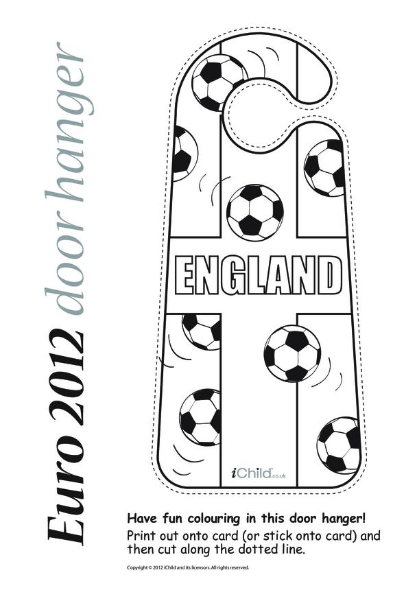 Euro 2012 England Football Door Hanger
