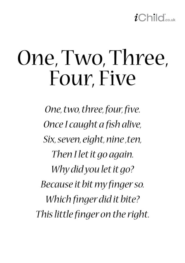 One, Two, Three, Four, Five Lyrics