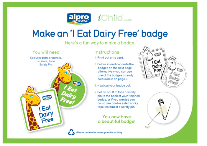 Thumbnail image for the Dairy Free Badges activity.