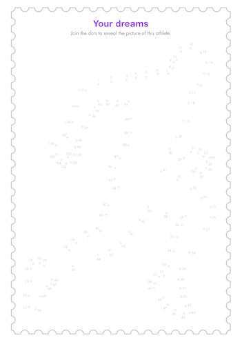 Thumbnail image for the Early Years 4) Your Dreams- Dot to Dot activity.