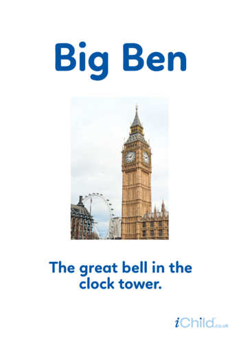 Thumbnail image for the Big Ben - Photo Poster activity.