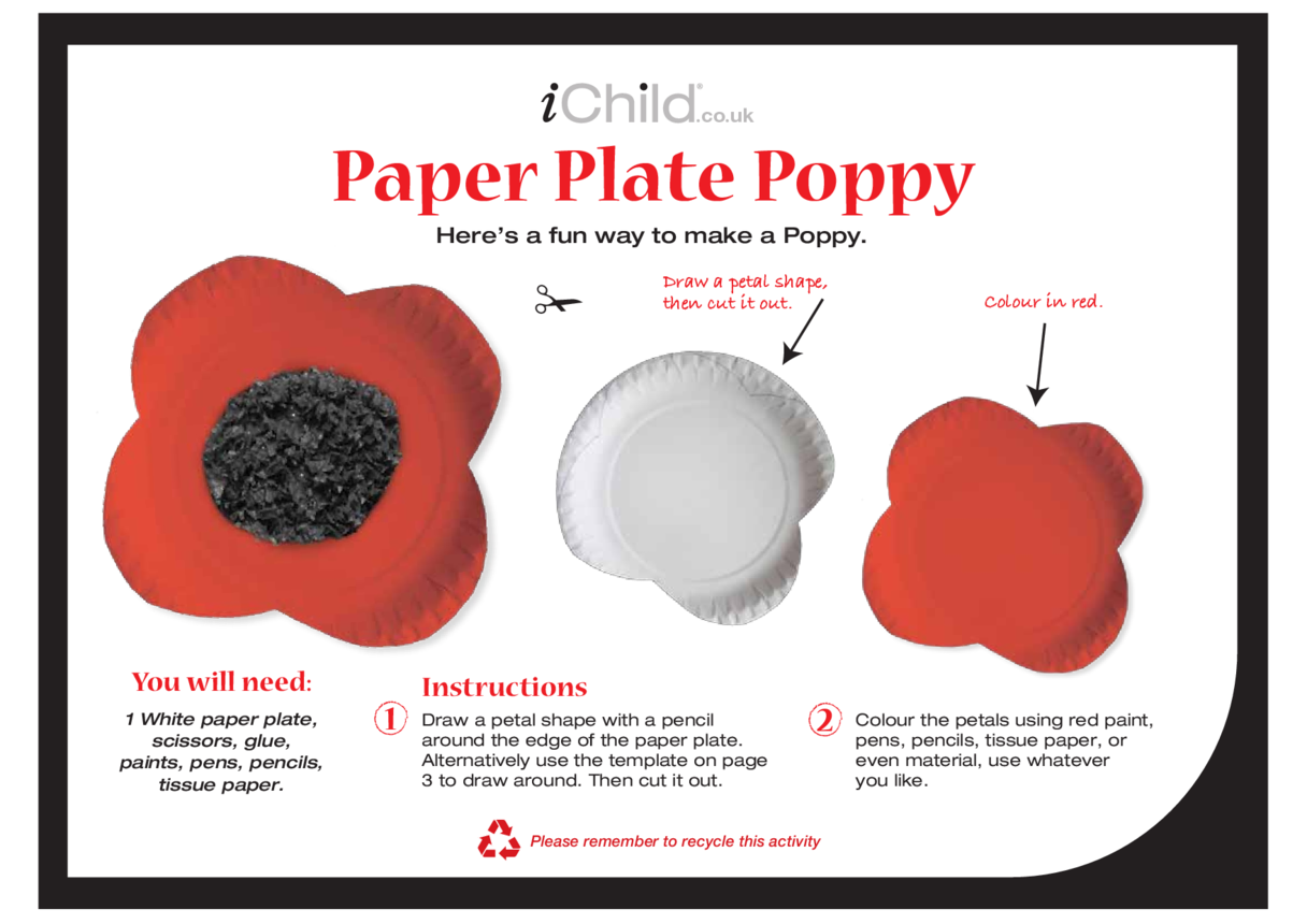 Poppy Paper Plate Craft