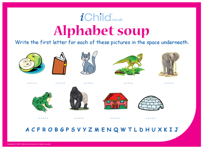Thumbnail image for the Alphabet Soup activity.