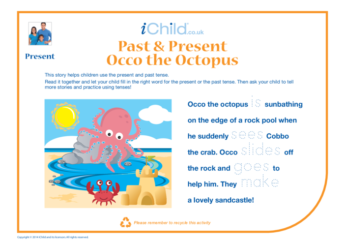 Thumbnail image for the Past & Present - Occo the Octopus activity.