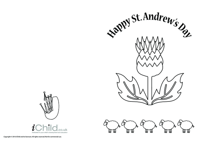 Thumbnail image for the Happy St. Andrew's Day Card activity.