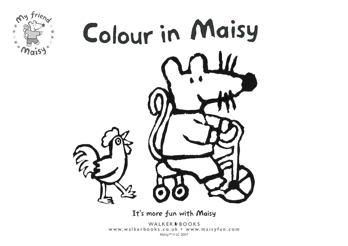 Thumbnail image for the Maisy Colouring in Picture- Bicycle activity.