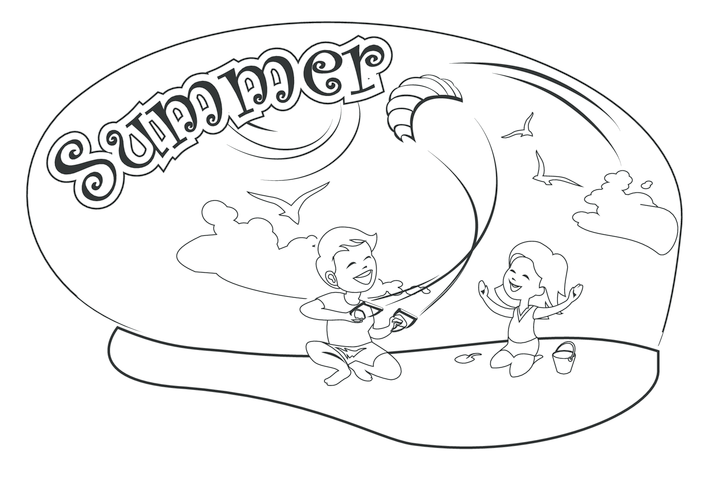 Thumbnail image for the Summer (black & white) - Signs & Posters activity.