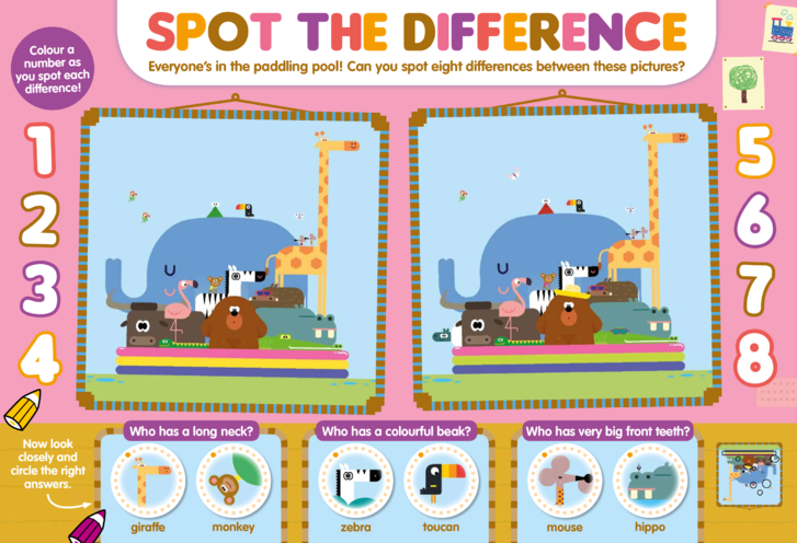 Thumbnail image for the Hey Duggee Spot the Difference activity.