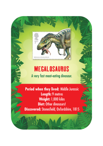 Thumbnail image for the Dinosaur Fact Card- Megalosaurus (A4) activity.