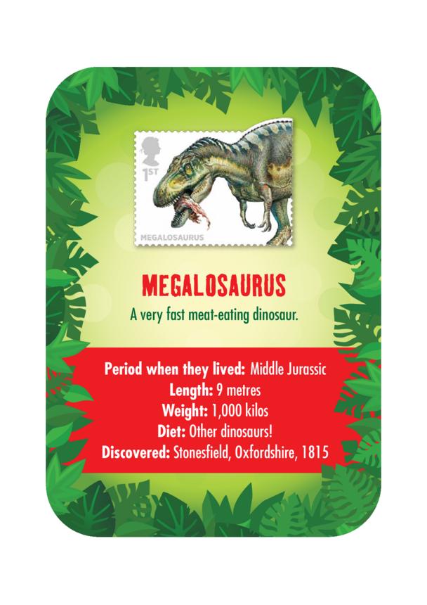 Dinosaur Fact Card- Megalosaurus (A4)