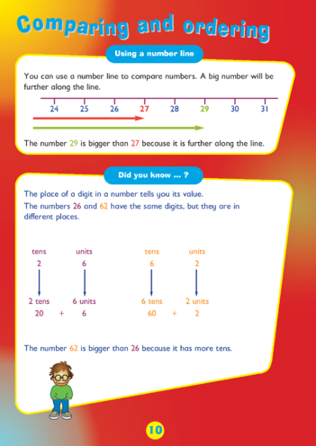 Thumbnail image for the Collins Easy Learning KS1 Maths, Counting, Comparing and Re-ordering Numbers activity.