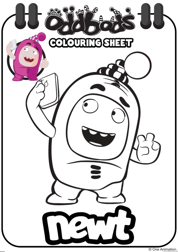 Colouring In Newt Oddbods