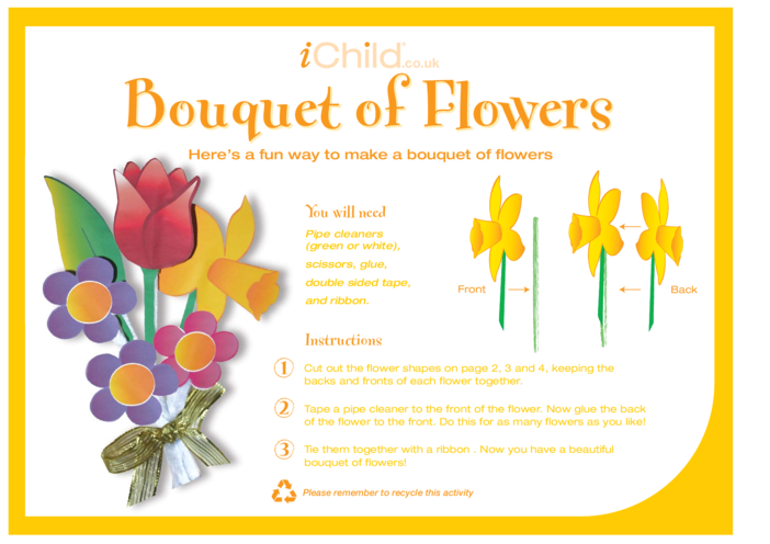 Thumbnail image for the Make a Bouquet of Flowers activity.