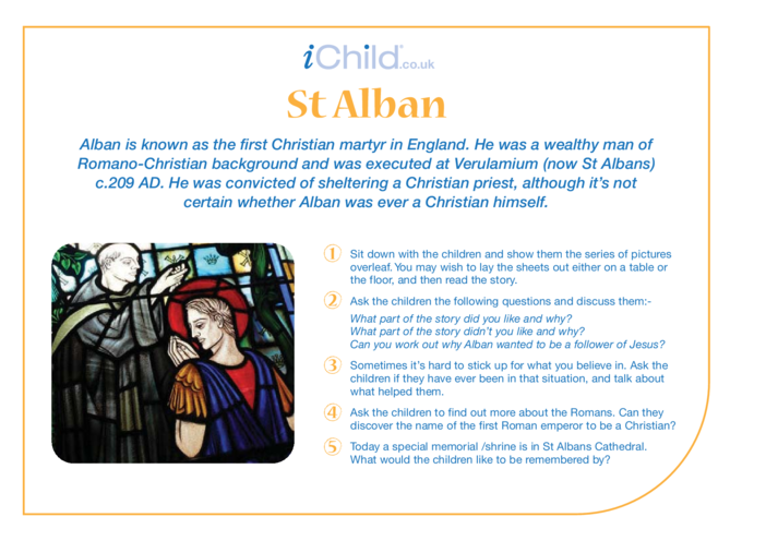 Thumbnail image for the St. Alban Religious Festival Story activity.
