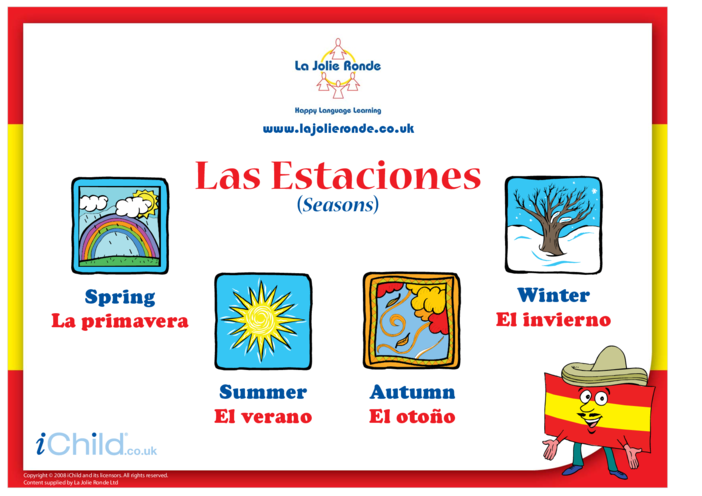 Thumbnail image for the Seasons in Spanish activity.