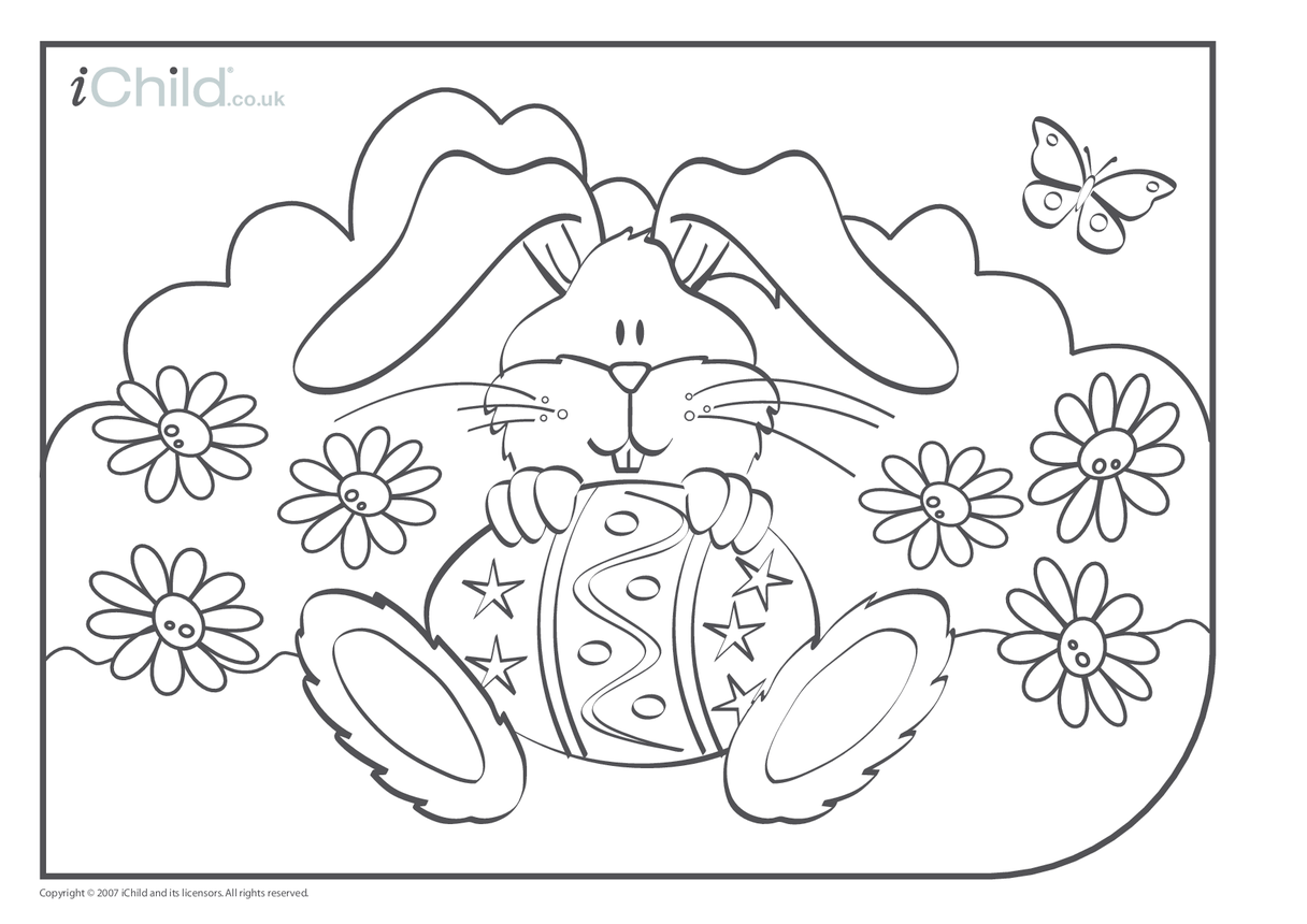 Easter Bunny Colouring in picture