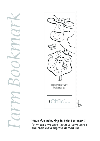 Thumbnail image for the Farm Bookmark activity.