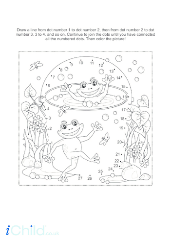 Thumbnail image for the Frog Dot to Dot activity.