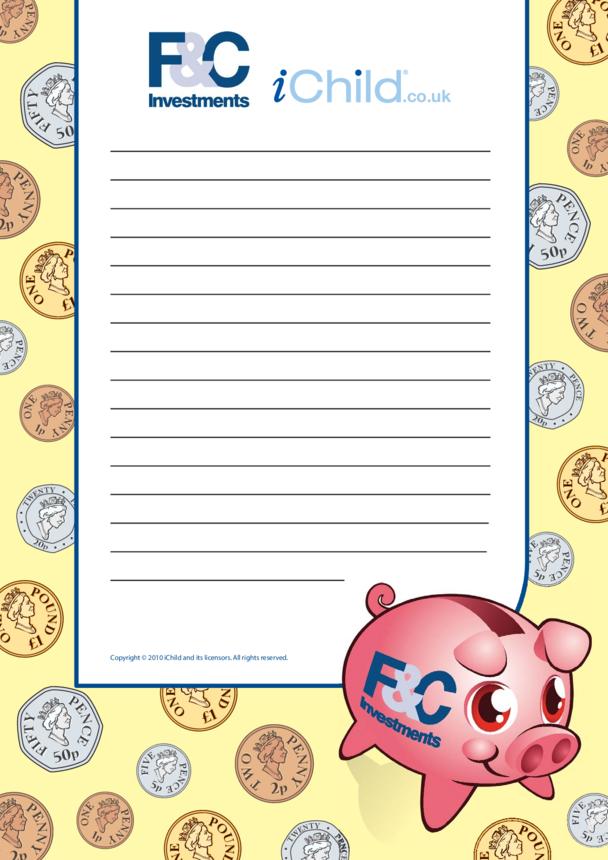 Super Saver Writing Paper Template