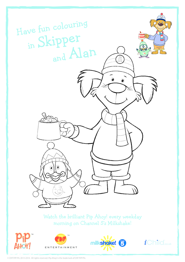 Winter Colouring In Picture (Pip Ahoy!)