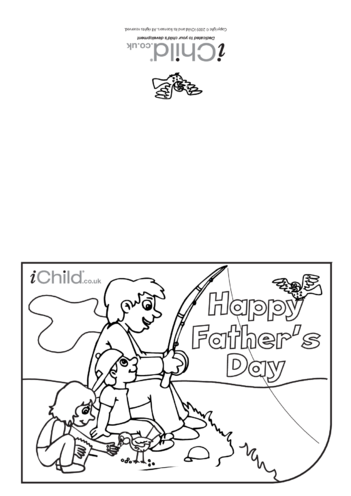 Thumbnail image for the Father's Day Card (Fishing) activity.