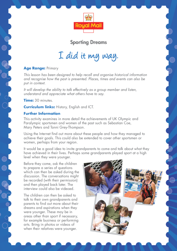 Primary 2) I Did it My Way Lesson Plan