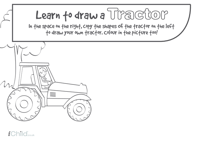 Thumbnail image for the Learn to Draw a Tractor activity.