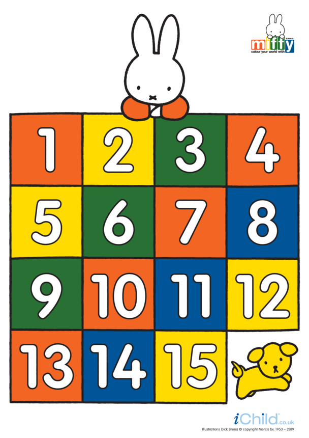 Miffy Numbers Posters