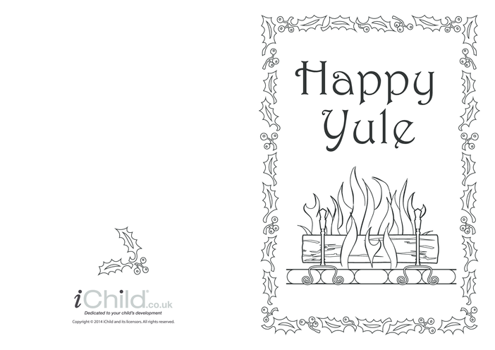 Thumbnail image for the Yule Greeting Card activity.