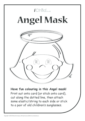 Thumbnail image for the Christmas Angel Mask activity.
