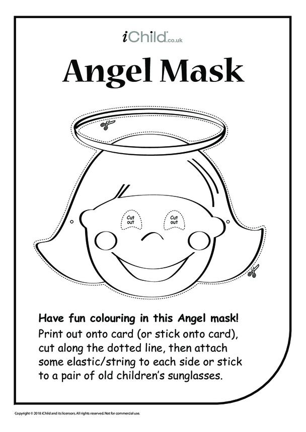 Christmas Angel Mask