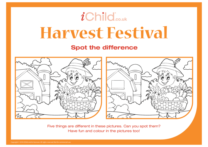 Thumbnail image for the Harvest Festival: Spot the Difference activity.