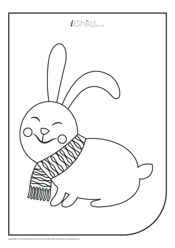 Rabbit Colouring in Picture