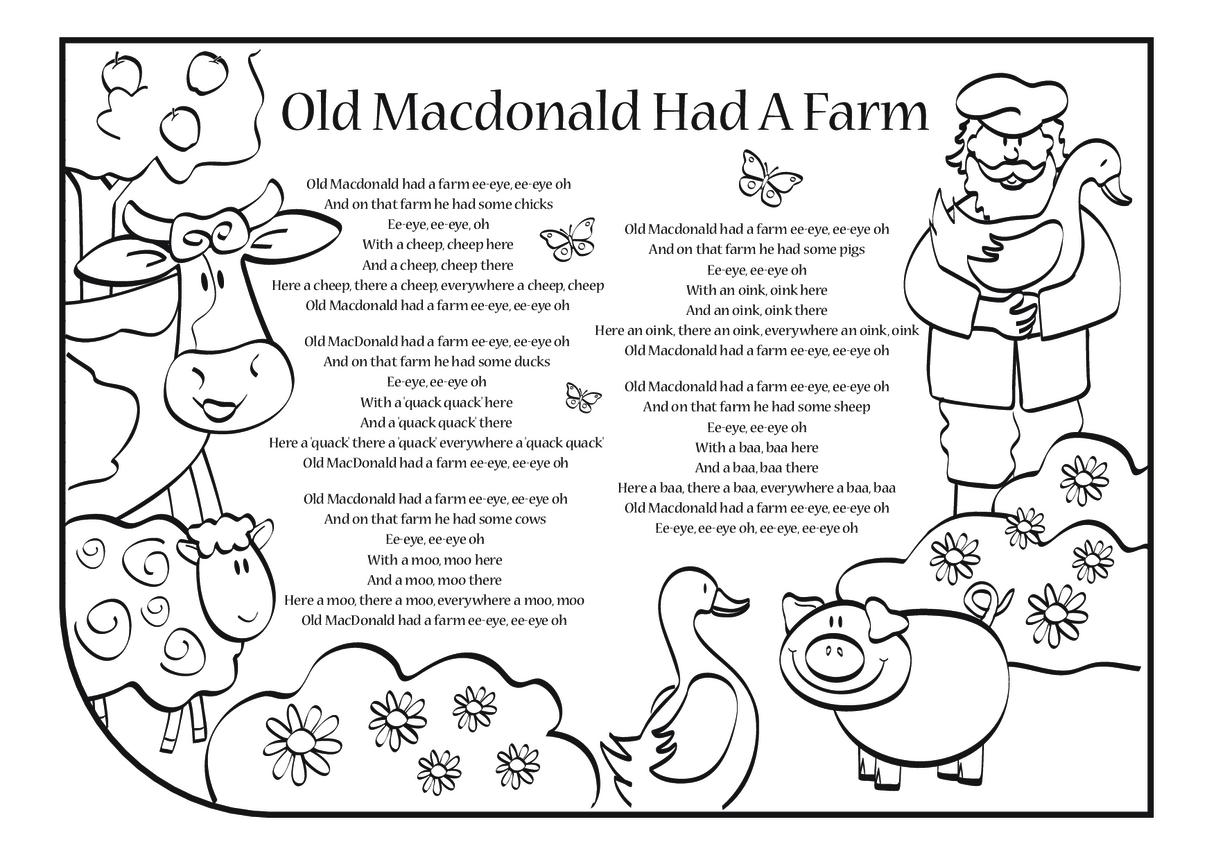 Old Macdonald Had a Farm Lyrics