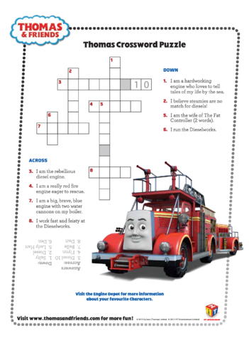 Thumbnail image for the Crossword Puzzle (Thomas & Friends) activity.