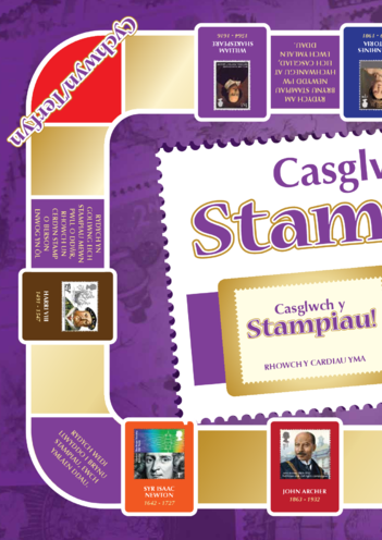 Thumbnail image for the 2013_Welsh Language Primary 5) Collect the Stamps! Game A3 activity.