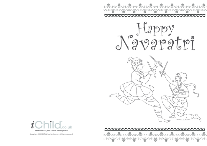 Thumbnail image for the Happy Navaratri Greeting Card activity.