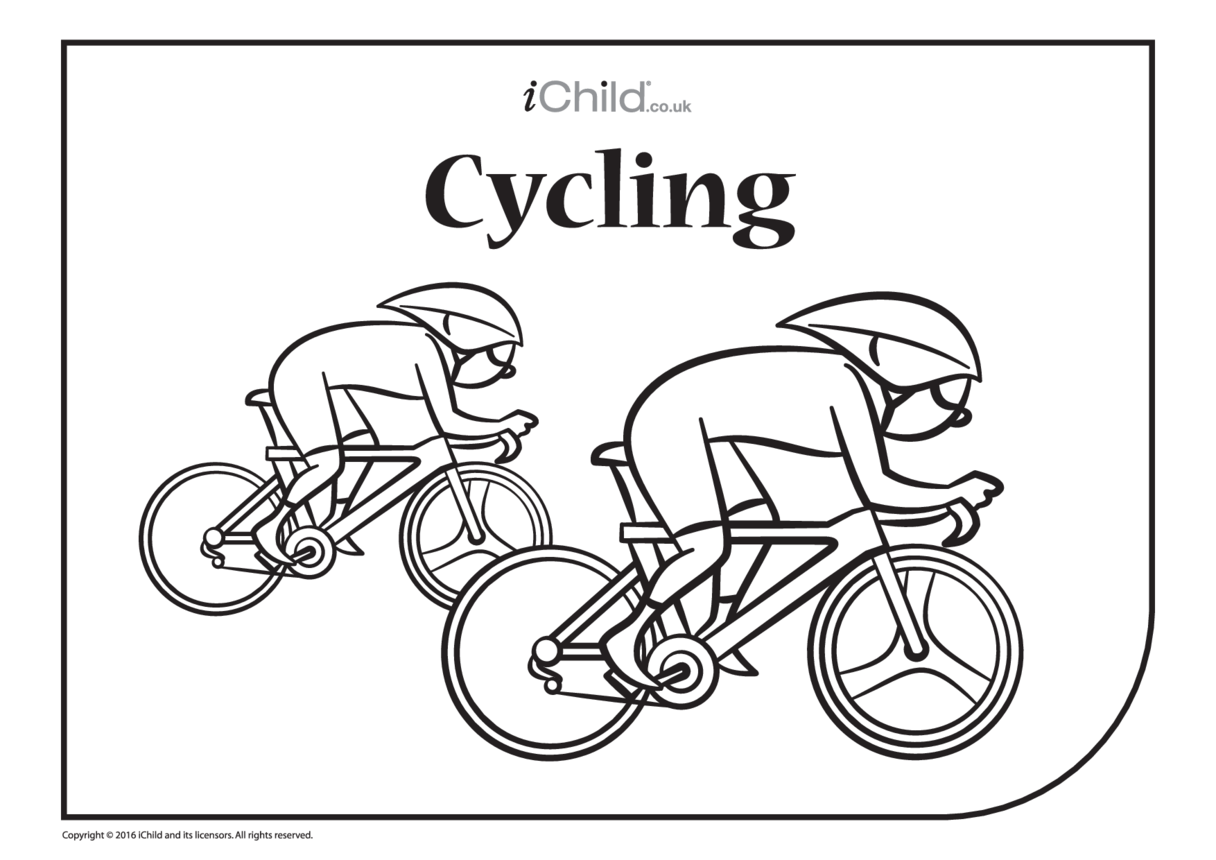 Cycle Race Colouring in Picture