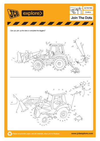 Thumbnail image for the Dot to Dot - JCB activity.