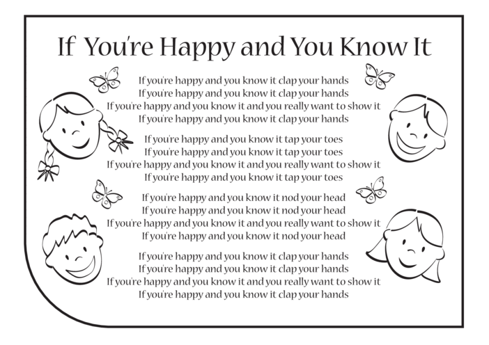 Thumbnail image for the If You're Happy and You Know It Lyrics activity.