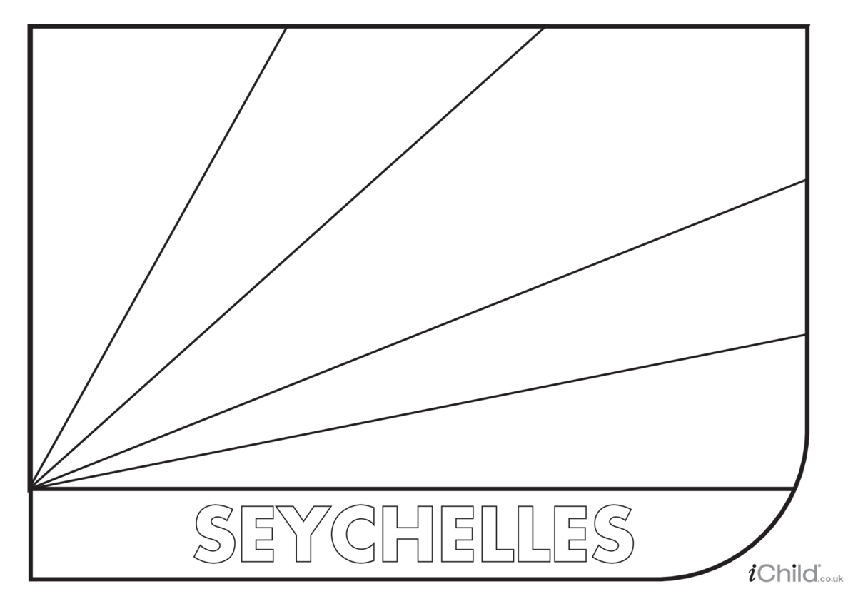Seychelles Flag Colouring in Picture (flag of Seychelles)