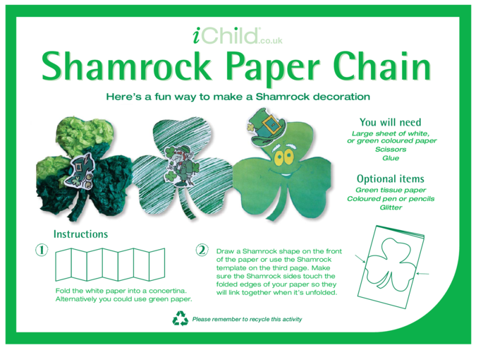 Thumbnail image for the Shamrock Paper Chain activity.