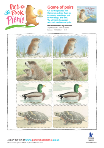 Thumbnail image for the Little Beaver: Matching Pairs activity.