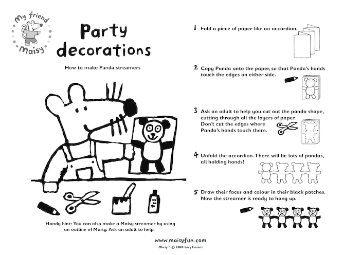 Thumbnail image for the Maisy Party Kit: Party Decorations activity.