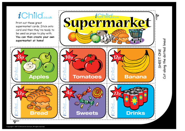 Thumbnail image for the Supermarket Role Play activity.