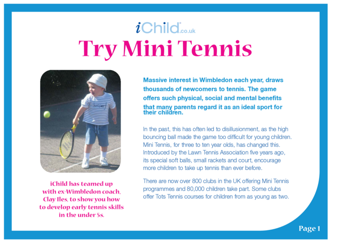 Thumbnail image for the Try Mini Tennis activity.