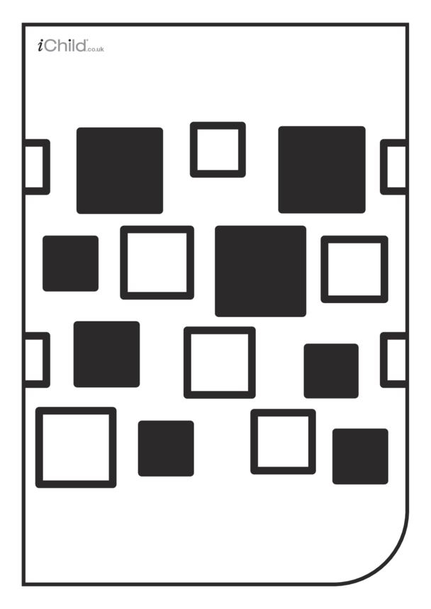 White & Black Poster: Square Pattern