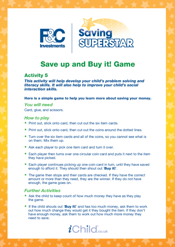 Age 5-7 years (5) Save up and buy it game