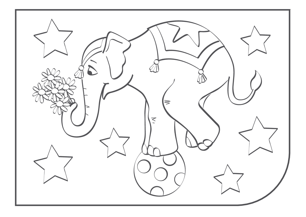 Elephant Colouring In picture