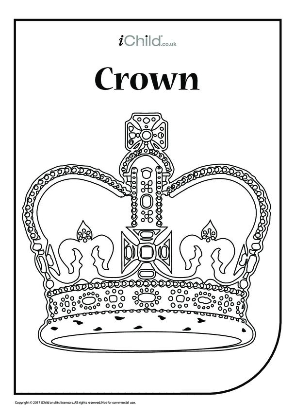 Crown Colouring in Picture